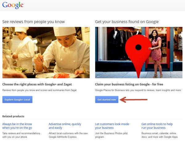 google plus local places login